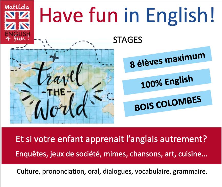 Stage anglais durant les vacances Et si votre enfant apprenait l'anglais autrement?
